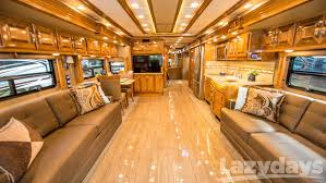... beautiful Class A coach offers luxuries like the Winegard In-Motion  Satellite System, a centralized command center, a memory-foam king-sized  mattress, ...