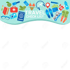 Travel Check List Template Copy Space For Checklist Packing
