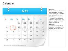 calendar template for powerpoint calendar powerpoint template