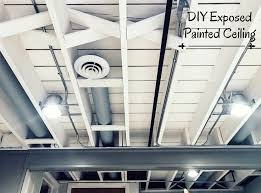 Brilliant Diy Basement Ceiling Ideas Painted Project To Concept