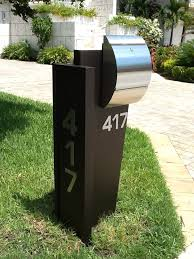 modern curbside mailbox. Stunning Contemporary Curbside Unit Using Our Stainless Carsten Mailbox Locking Or Nonlocking And Modern