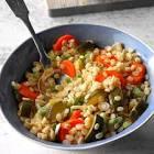 barley zucchini pilaf