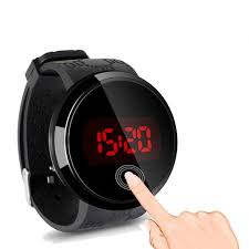 men touch screen day date sport watch led digital w silicone men touch screen day date sport watch led digital w silicone wrist watch bk w