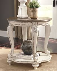Realyn End Table Whitebrown In 2019 Products Table Decor