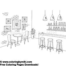 Café Bar Coloring Page 785 Coloring By Miki