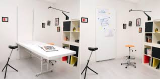 wall mounted folding table space