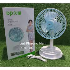 Quạt sạc để bàn có đèn Led đa năng DP-7627