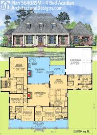westhomeplanners 2100 sq ft house plans architectural designs 4 bed acadian house plan has generous outdoor