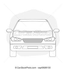 car outline front. Simple Car And Car Outline Front
