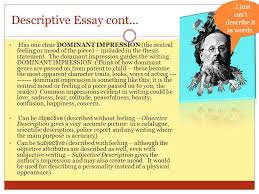 "from the french word ""essayer"" meaning to attempt to try ppt  descriptive essay cont"