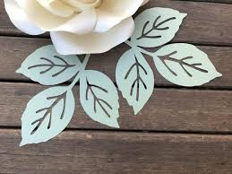 Cut the petals from the free template. Rose Paper Flower Leaf Template Pdf Svg Pattern Paper Flower Etsy