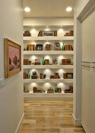 Bookshelf Lighting Light Filled Home With Stone Walls And Unique Style Cornerstone