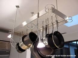 large iron pot rack stainless pot rack