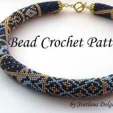 Beaded Necklace Patterns Fascinating Pattern For Bead Crochet Necklace From DolgovaSvetlana On Etsy
