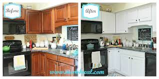 painting kitchen cabinets before and afterStunning White Painted Kitchen Cabinets Before After Painted