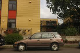 OLD PARKED CARS.: 1989 Honda Civic RT4WD Wagon.