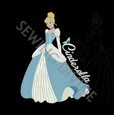 Cinderella Applique Design New Cinderella Embroidery Design 5x7 And 6x10 Hoops Instant