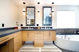 bamboo vanity bathroom. Bathroom Vanities With Makeup Vanity Contemporary Bamboo Cabinets Beige Tile