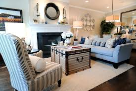 Wooden baby nursery rustic furniture ideas Baby Girl Coastal Furniture Ideas For Living Room With Baby Blue Upholstered Sofa With Wooden Base And White Strip Single Sofa Also Treasure Wooden Table Architecture And Interior Design Modern Architecture Center Funiture Coastal Furniture Ideas For Living Room With Baby Blue