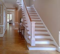 Painted Wood Stairs Craftsman Staircase Staircase Craftsman With Staircase Photo