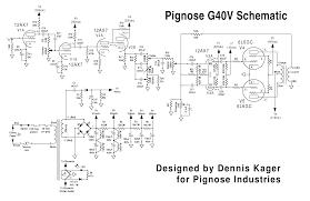 blue guitar schematics pignose g40v tube amp schematic