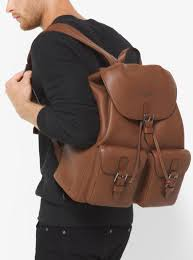 mens backpacks michael kors mens bryant leather backpack luggage