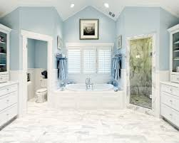 white bathroom floor: luxury modern bathroom with white tile floor and blue wall paint colors