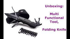 UNBOXING : Outdoor Camping Survival <b>Multifunctional Folding</b> ...
