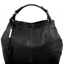 tuscany leather ambrosia soft leather bag with shoulder strap black tl141516 2