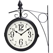 la crosse 104 730 8 dual faced outdoor station metal clock and thermometer com