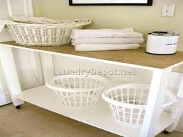 laundry furniture. Elegant Laundry Room Folding Table With Storage For Home Remodeling Ideas Furniture Storag