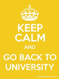 Resultado de imagen de back to university