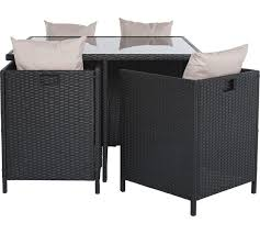 cube rattan effect 4 seater patio