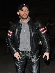 tom hardy edgy biker leather jacket