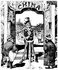 Open Door Cartoon 1900 Photograph by Granger