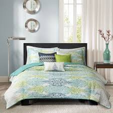 madison park mali 6 piece quilted coverlet set