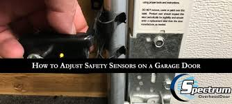how to adjust safety sensors on a garage door