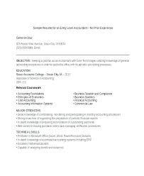 Junior Accountant Resume Sample Mwb Online Co
