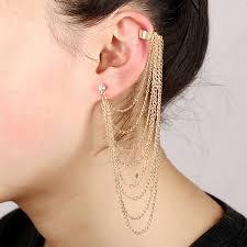 New arrival <b>fashion</b> exaggerated <b>Angle wings</b> ear cuff crystal earring ...