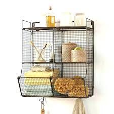 decorative wire shelf awesome impressive unique chic wall mounted shelving units shelves basket fresh metal sh