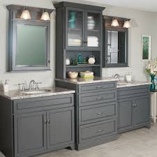 double sink vanity with tower. marvelous double vanity with center tower and sink storage good bathroom vanities