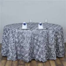 tablecloth rossette round silver