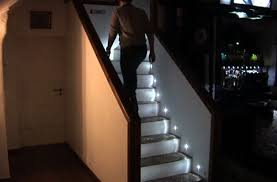 Staircase led lighting House Want To Save Little Energy While Looking Awesome Going Up And Down The Stairs In Your Home Then Considering Installing Some Led Stair Lights Like Those Challengesofaging Look Cool While Going Up Or Down Stairs With Led Stair Lights Geekcom