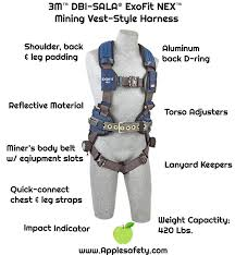 Dbi Sala Exofit Size Chart 1113195 Exofit Nex Mining Vest Style Harness Qc Qc
