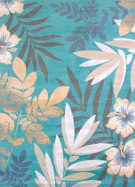 delectably yours com modern textures blue sea garden tropical rug collection by united weavers