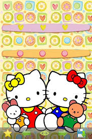 screen backgrounds app icons frames wallpapers hello kitty edition screenshot 4