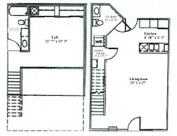 Floor Plan One Bedroom Loft Woodsview Apartments Classy Apartments Floor Plans Design Style