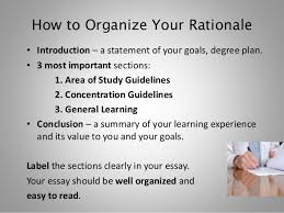 planning and writing your rationale essay fall  how to organize your