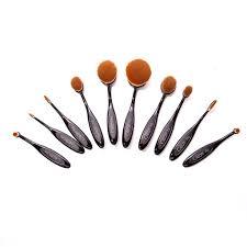 beauty brushes set. 10 pc oval brush set beauty brushes