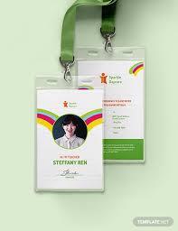 Id Cards Template Daycare Teacher Id Card Template